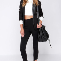 Fit to Kill Cropped Black Leggings