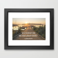 Inspirational Quote Framed Art Print by Aubergine & Purple