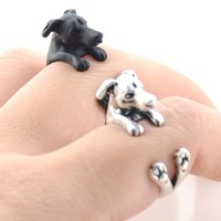 New Vintage Boho Animal Anillos Dog Ring Punk Brass Knuckle Greyhound Masculino Rings For Women Men Anel Best Friend Jewelry