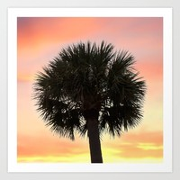 Palm and Sunset Art Print by Legends Of Darkness Photography