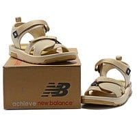 New Balance Woman Men Fashion Leather Sandals Flats Shoes