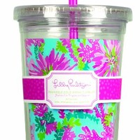 Lilly Pulitzer Acrylic Tumbler with Straw -Trippin' and Sippin'