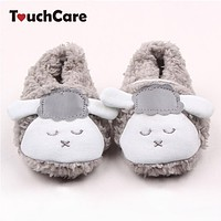 born Cotton Baby Boys Girls First Walkers Cute Sheep Soft Baby Shoes Slipper Crib Shoes