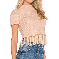 High Hopes Knit Top in Latte