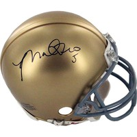 Steiner Sports Notre Dame Manti Te'o Autographed Mini Helmet (Yellow)
