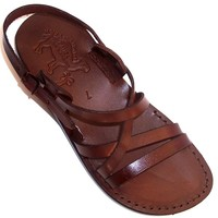 Unisex Adults/Children Genuine Leather Biblical Sandals / Flip flops (Jesus - Yashua) Jesus - Yashua Style II - Holy Land Market Camel Trademark