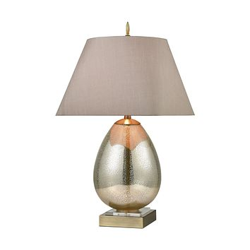 Longship Table Lamp in Antique Mercury Glass