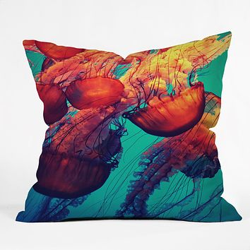 Krista Glavich Jellyfish 7 Outdoor Throw Pillow