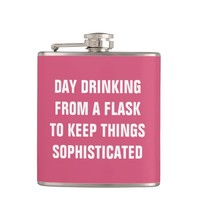 Day drinking from a flask to keep things sophisticed