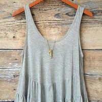 Heather Gray Tiered Tank Top