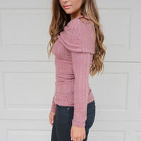 Loveland Rust Off the Shoulder Top
