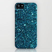 midnight blue sparkle iPhone & iPod Case by ingz