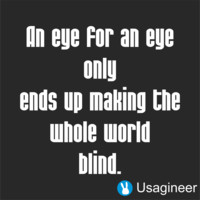 An Eye For An Eye Only Ends Up Making The Whole World Blind Quote Vinyl Decal Sticker