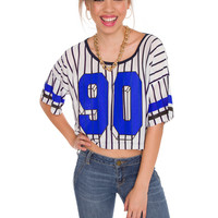 Take Me Out To The Ball Game Crop Top