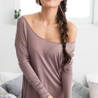 Modest Life top in mocha marle Produced By SHOWPO