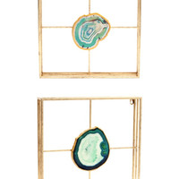Framed Natural Expressions Agate Wall Art