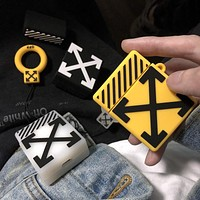OFF-WHITE Tide brand Bluetooth wireless headset cover