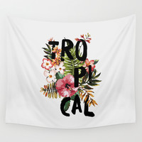 Tropical I Wall Tapestry by Galaxy Eyes