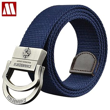 New Fashion Alloy Buckle Belts For Men And Women Sports Canvas Outdoor Tactical Belt For Jeans Mens Belts Luxury
