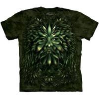 HIGH KING Face The Mountain Celtic Irish Greenman Pagan Weed T-Shirt S-3XL NEW