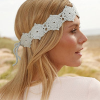 Head Band Lace crochet boho head band flower hand band romantic head band summer fashion Drops Lilith