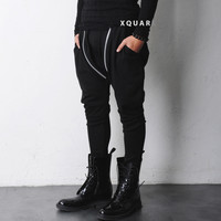 Vandalique Double Zip Drop Crotch Jersey Pants -restock