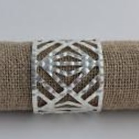 High Shine Triangle Cutout Cuff Bracelet-Silver
