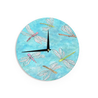 "Rosie Brown ""Dragonfly"" Wall Clock"