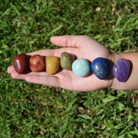 Chakra Stones Set - 7 Large Healing Crystals - 7 Chakras Gift Set - Beginner Crystals Set