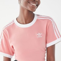 adidas 3 Stripe Ringer Tee   Urban Outfitters