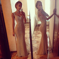 Sexy Women Gown Evening Party Bridesmaid Wedding Prom Maxi Long Cocktail Dress