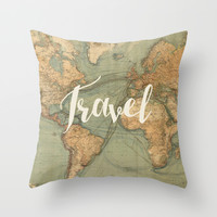 Travel Throw Pillow by Ashley Hillman