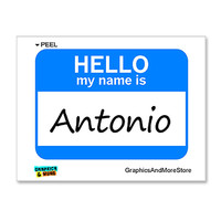 Antonio Hello My Name Is Sticker
