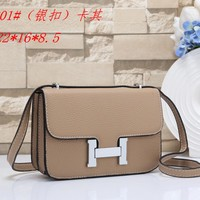 Hermes Women's Fashion Leather Tote Shoulder Crossbody Bag size:22*16.5*8.5