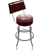 Mississippi State Bulldogs Padded Swivel Bar Stool with Back (Mst Team)
