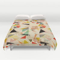 between shapes Duvet Cover by SpinL