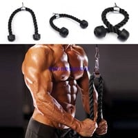 Heavy Duty Tricep Rope Attachment Bodybuilding Plastic End Lat Cord Gym Exercise Fitness Supplies Fitness s