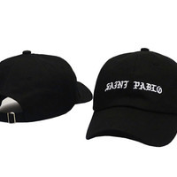 I FEEL LIKE PABLO Hat Kanye West Yeezy Yeezus THE LIFE OF PABLO Embroidered Cap Black SAINT PABLO Fitted Trucker Sun Hat