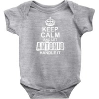 Keep Calm And Let Antonio Handle It Baby Onesuit