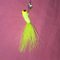 Silver, Green, & Yellow Fishing Lure Belly Button Ring