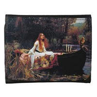 Lady Of Shallot on Boat Waterhouse Art Wallet