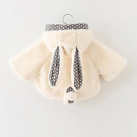 New Baby Infantil Autumn Winter Cute Rabbit Hooded Coat Cloak Thick Warm Clothes Newest Style Baby Girl Boy Clothes Snow Wear