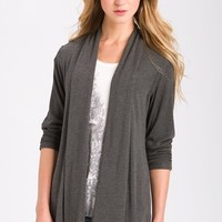 MOD.lusive Ruched Sleeve Long Cardigan
