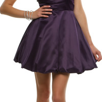 Purple Pleated Perfection Strapless Cocktail Dress Homecoming 2014