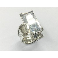 SALE   A Flawless Handmade 7CT Emerald Cut Lab Diamond Engagement Ring