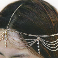 Rhinestone Head Chain Hair Accessories
