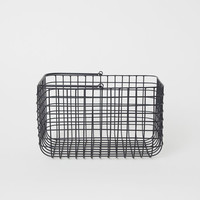 Metal Wire Basket with Handle - Black - Home All | H&M US