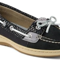 Sperry Top-Sider Angelfish Fishscale Slip-On Boat Shoe Black, Size 9M  Women's Shoes