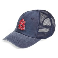 Men's American Needle 'St. Louis Cardinals - Raglan Bones' Mesh Trucker Cap - Blue