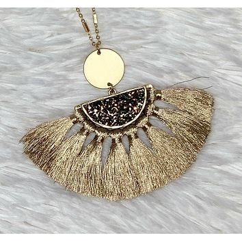 Stand Out Tassel Necklace